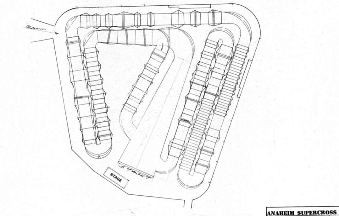Anaheim Track Map