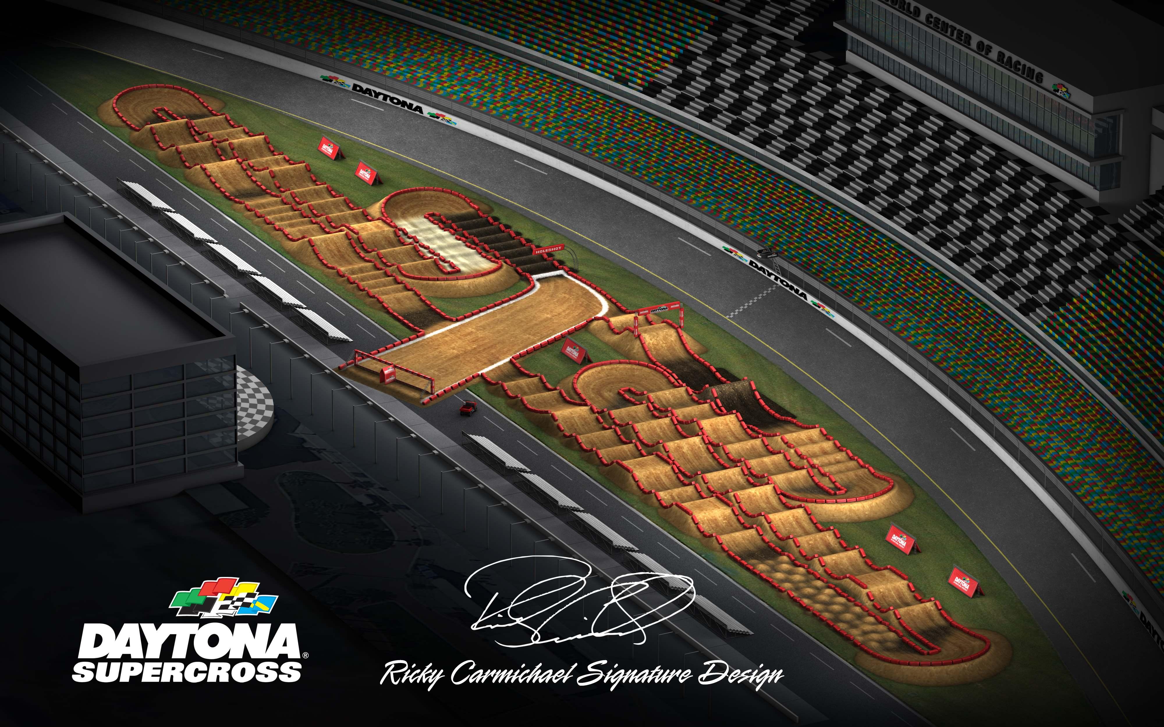 2019 Daytona Supercross course map