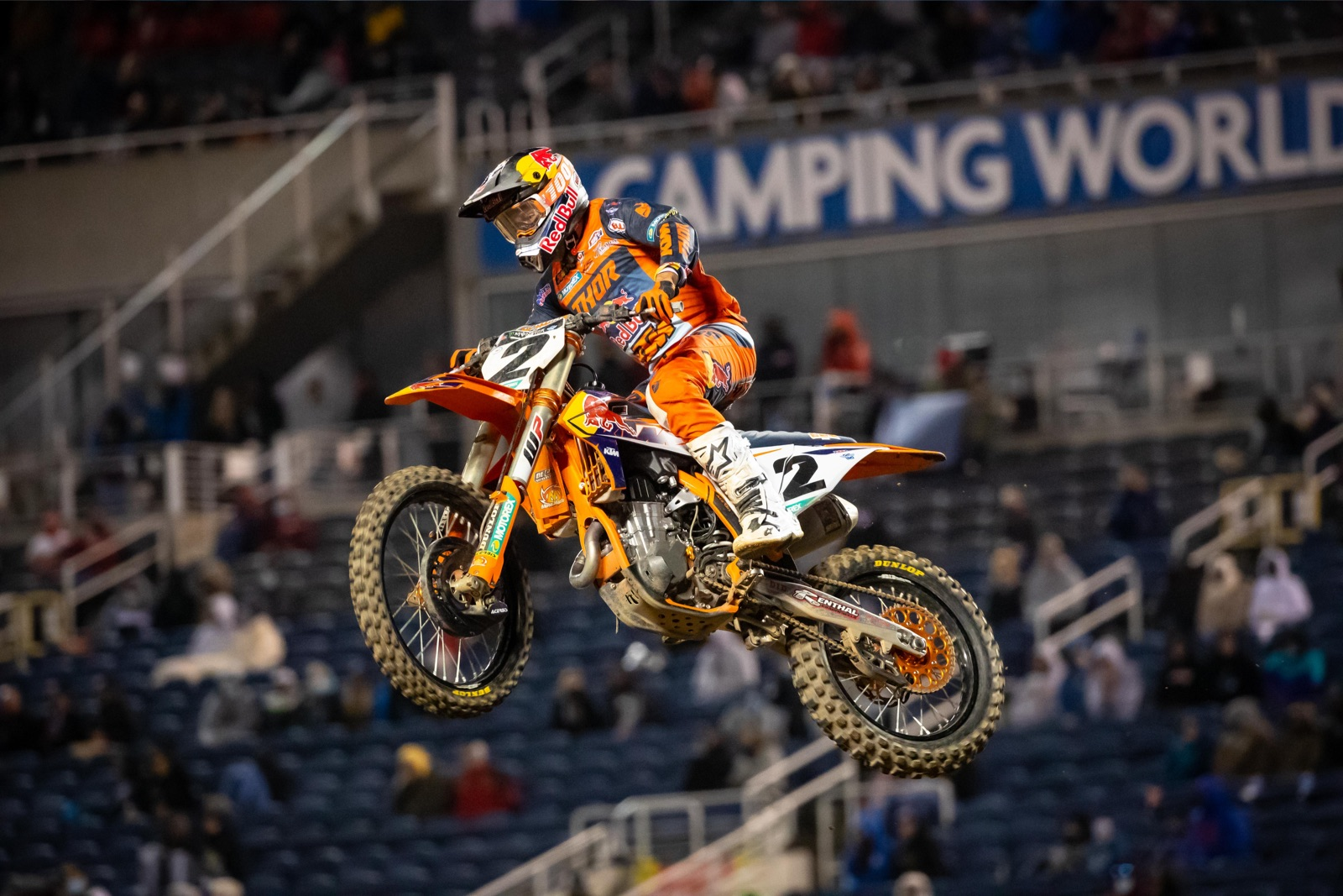 Cooper Webb's speed and determination nabbed him another win