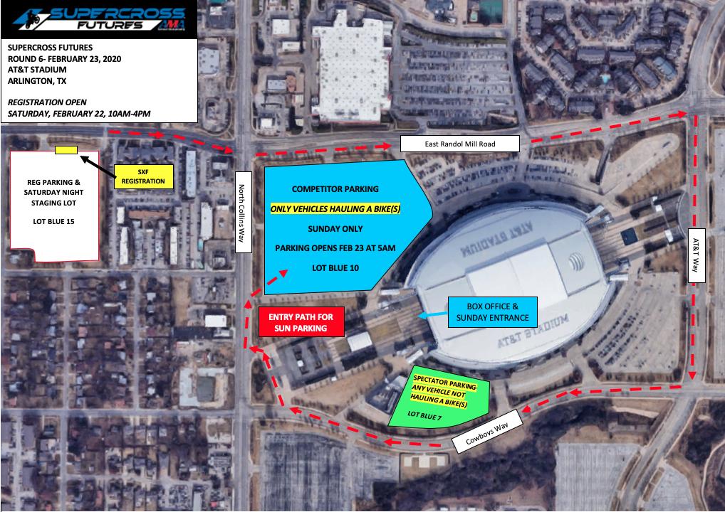 SX Arlington Venue Map