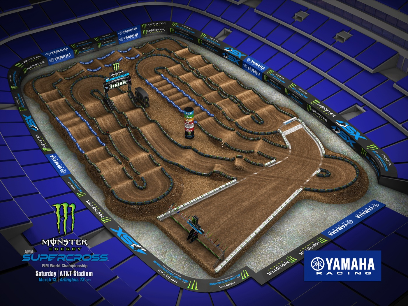 Round 10 – Arlington Track Map