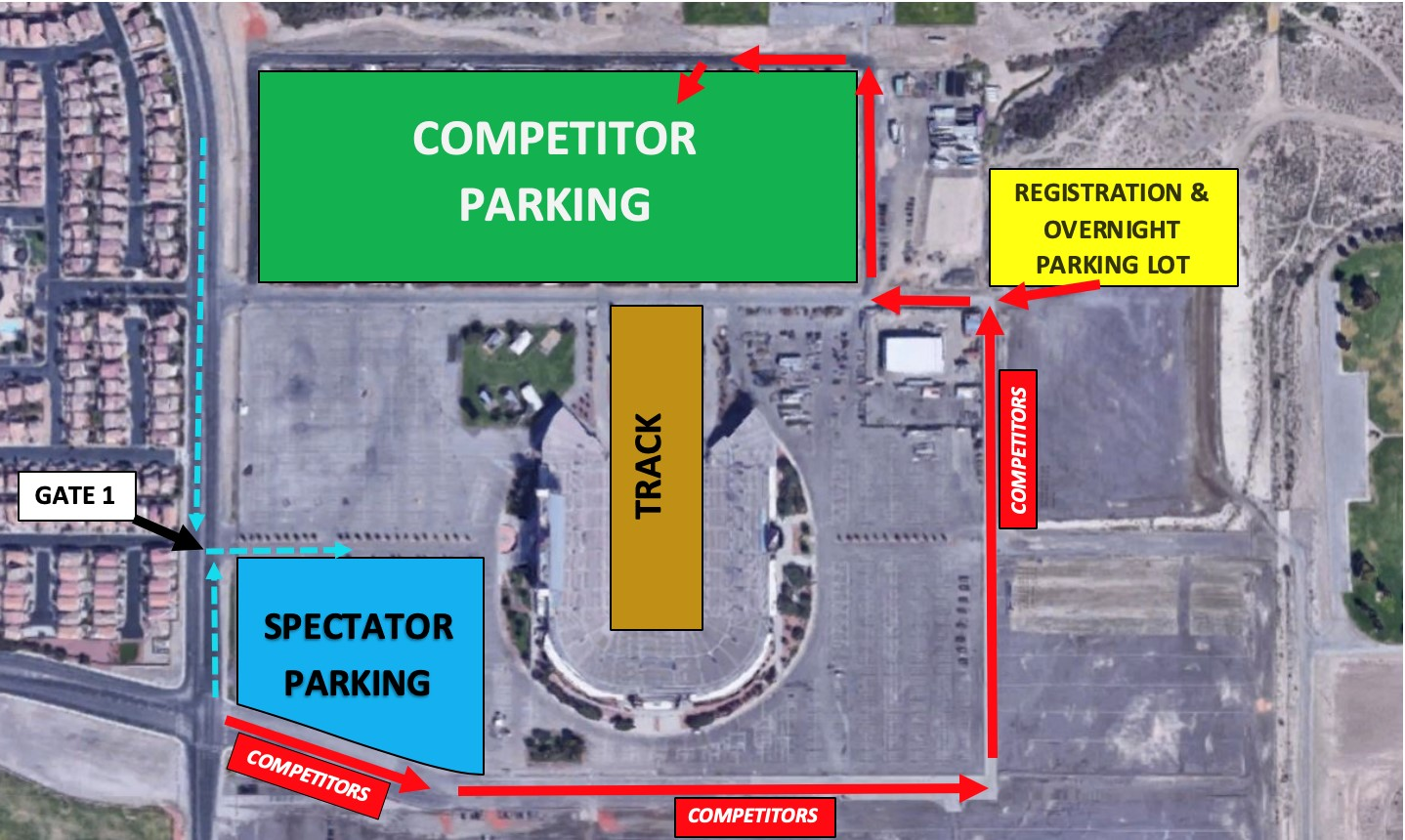 Competitor Parking Map