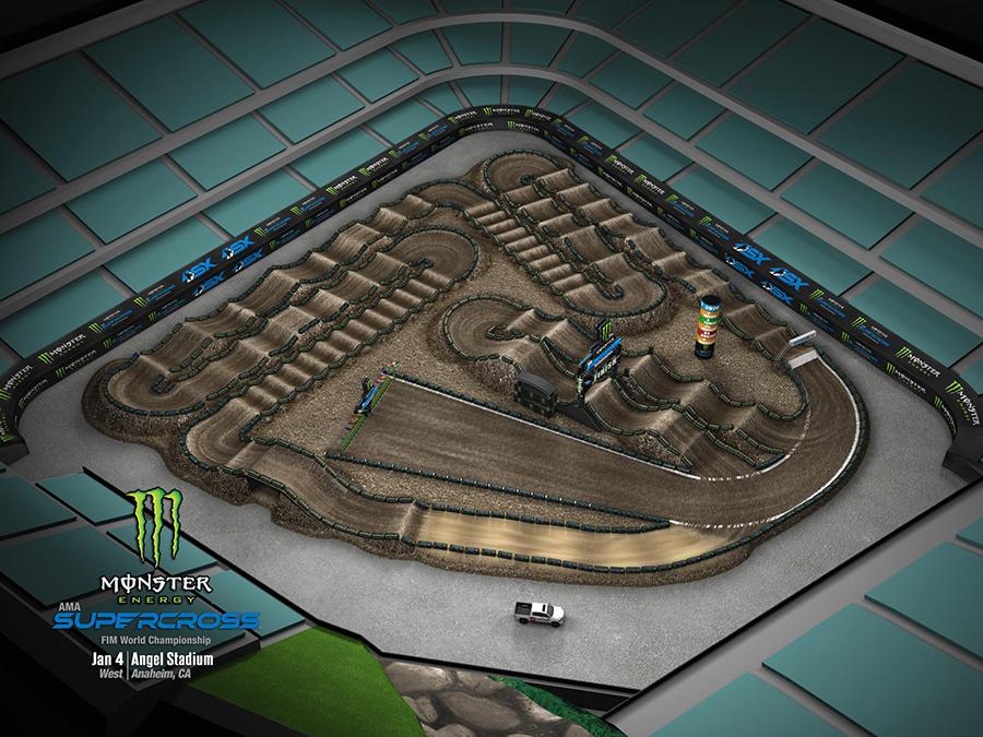 Anaheim 1 track layout