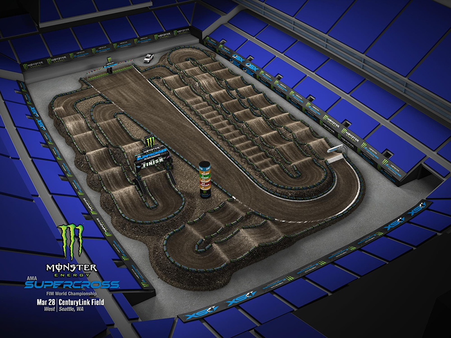 Seattle track layout
