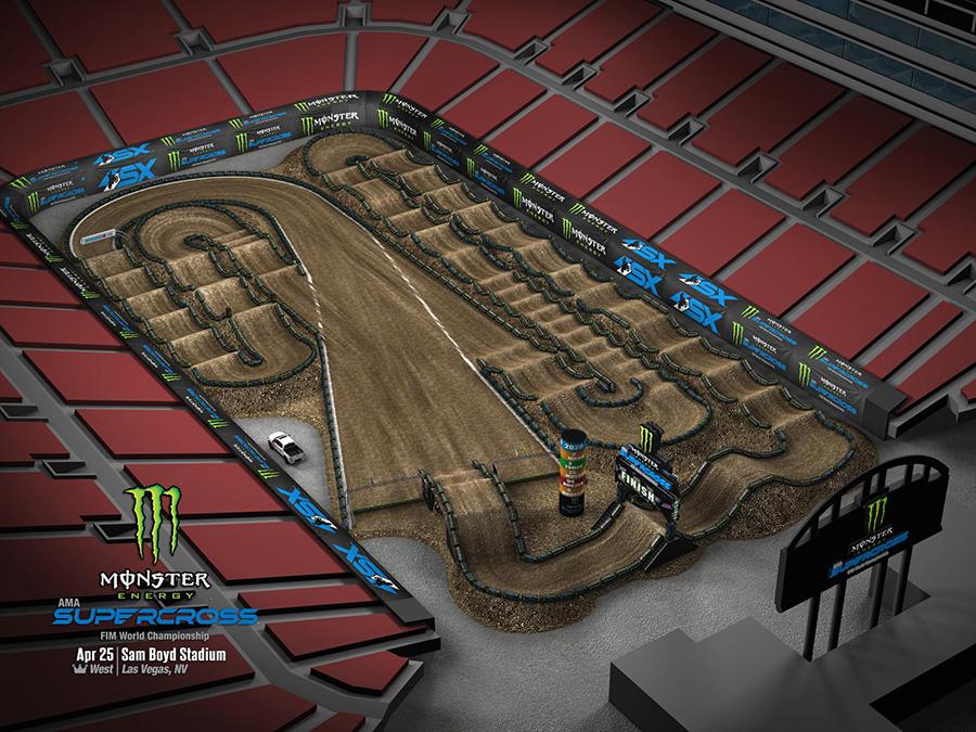 Las Vegas track layout