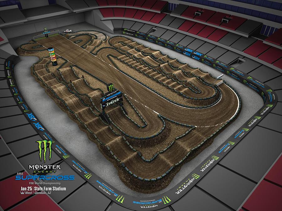 Glendale track layout