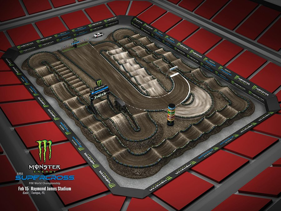 Tampa Track Map