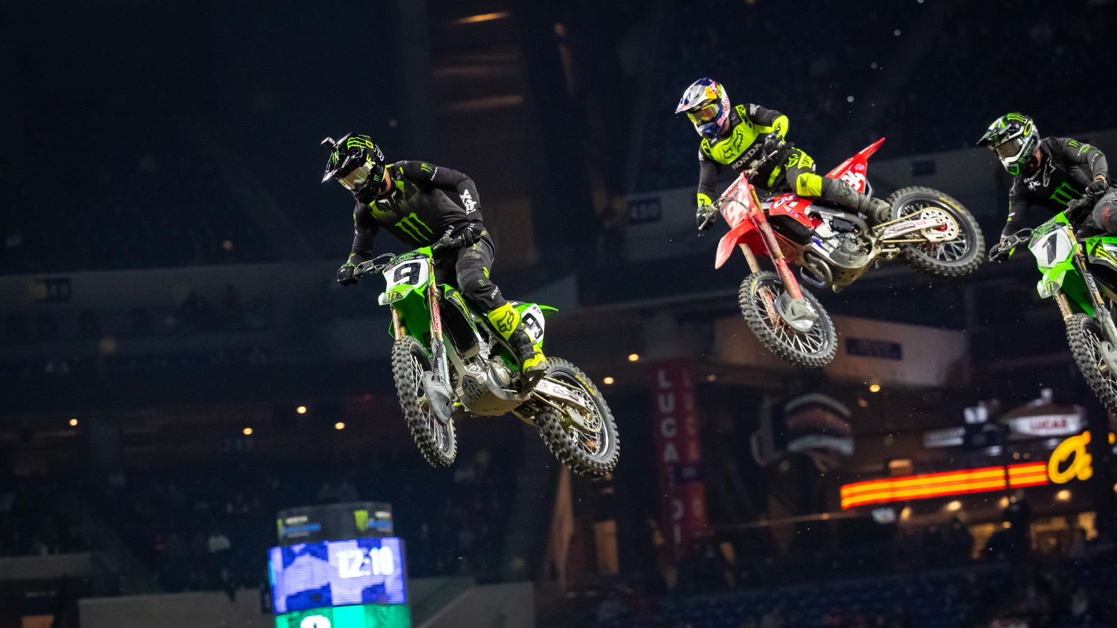 Ken Roczen (#94) was on a mission to win in Indy.