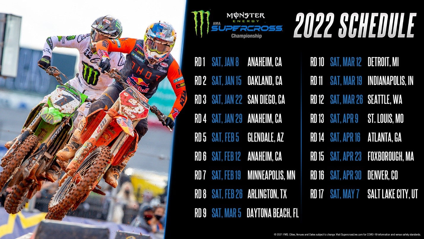 Supercross 2022 Schedule