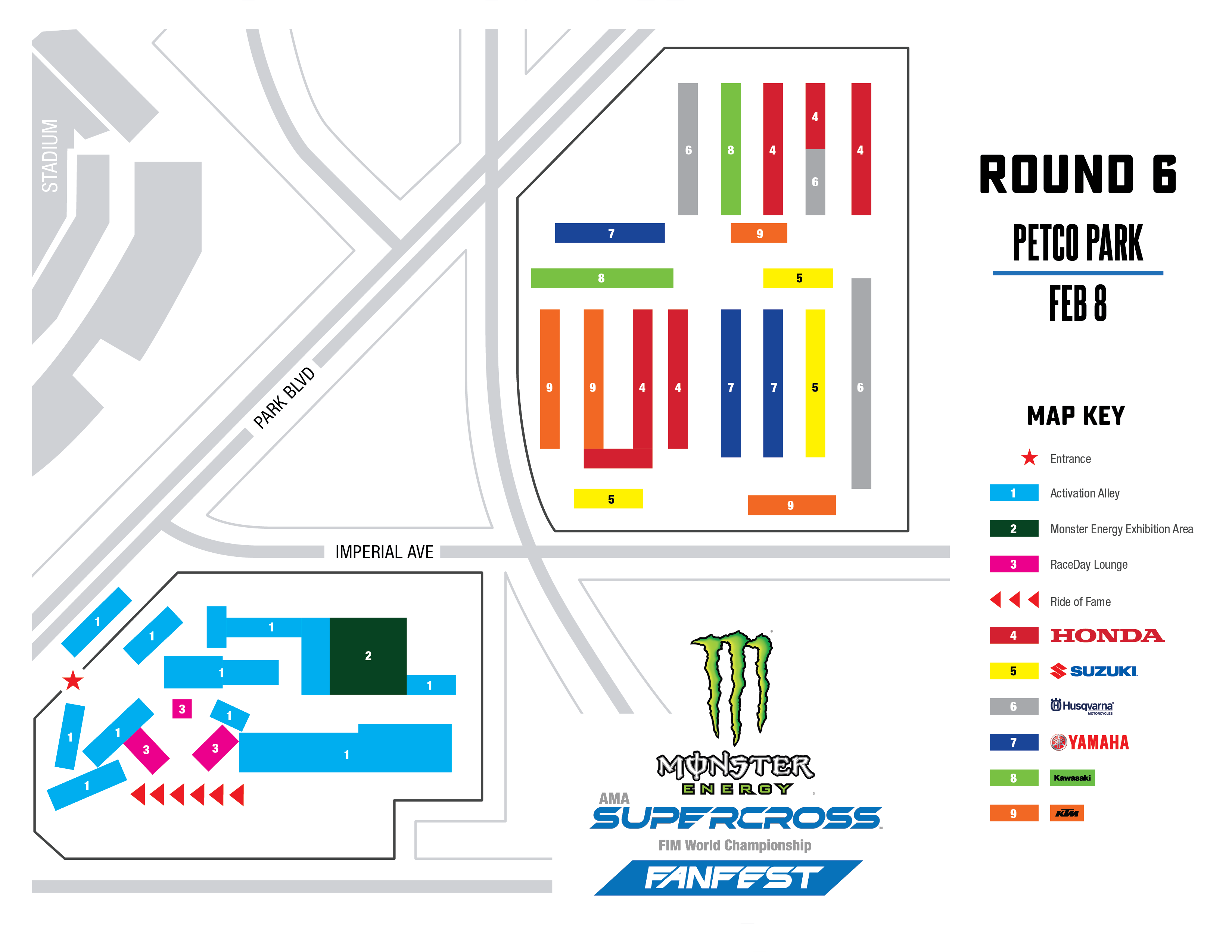 San Diego FanFest Map