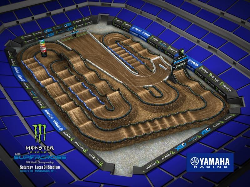 Round #4 - Lucas Oil Stadium Track Map