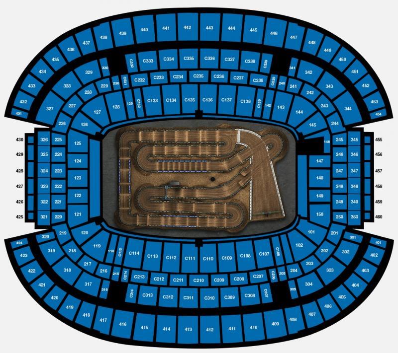 ROUND 10 AT&T Stadium Seating Map
