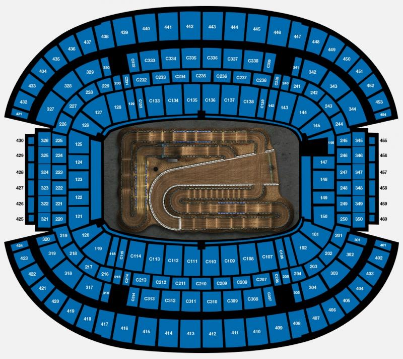 ROUND 12 AT&T Stadium Seating Map