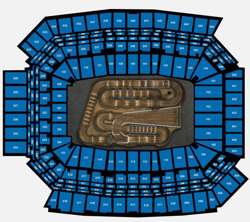 Round #4 - Lucas Oil Stadium Seating Chart