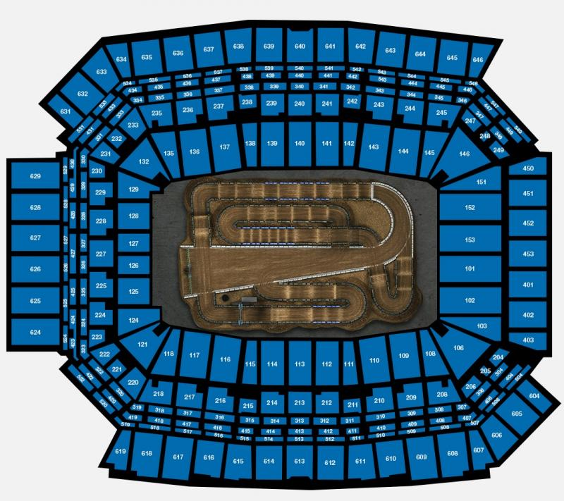 Round #5 - Lucas Oil Stadium Seating Chart