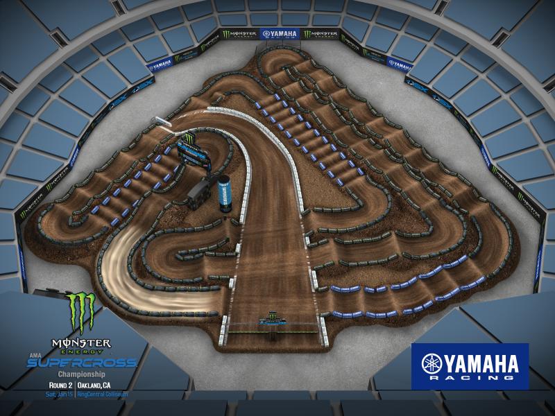 2022 Monster Energy Supercross Round 2 Track Map