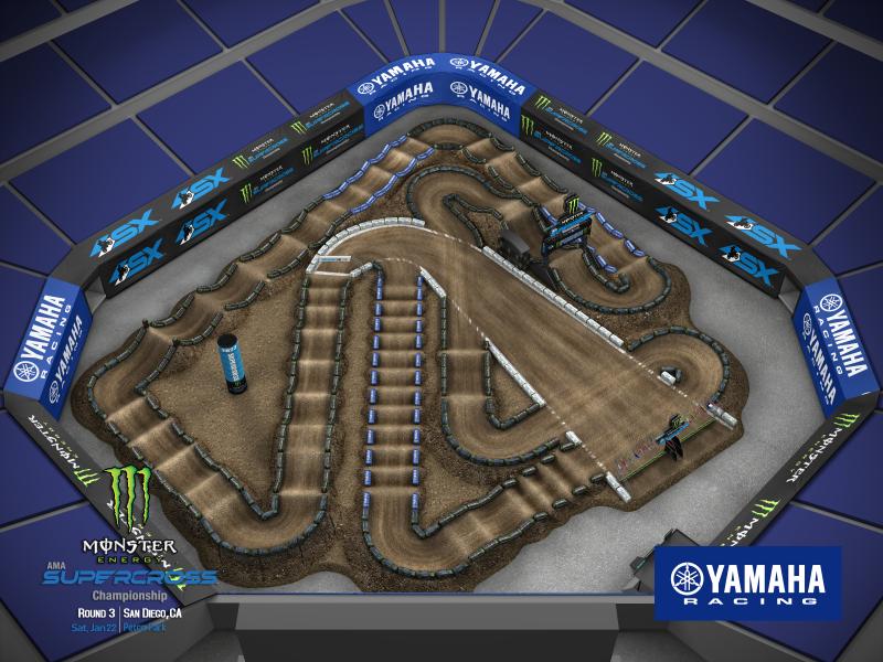 2022 Monster Energy Supercross Round 3 Track Map