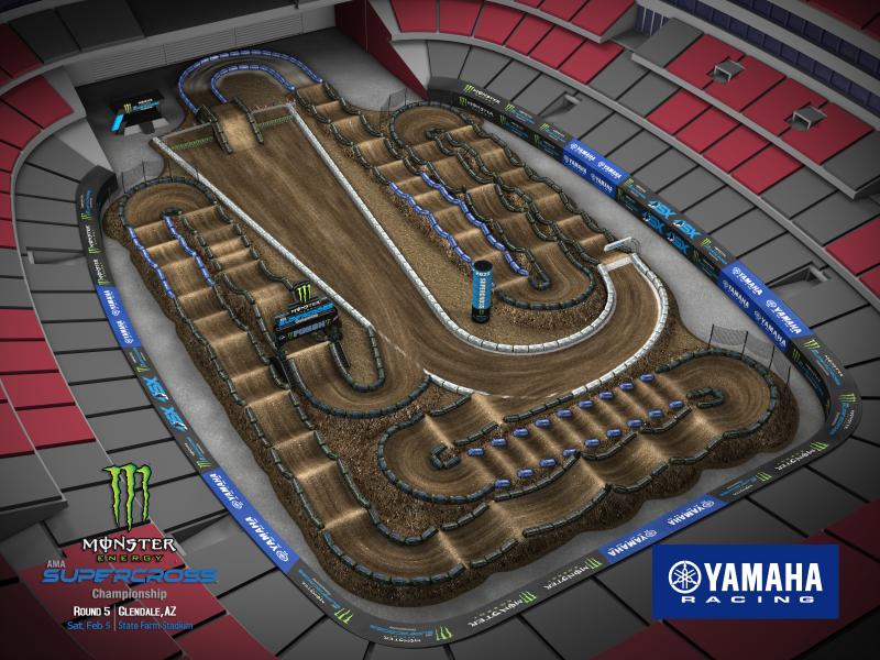 2022 Monster Energy Supercross Round 5 Track Map