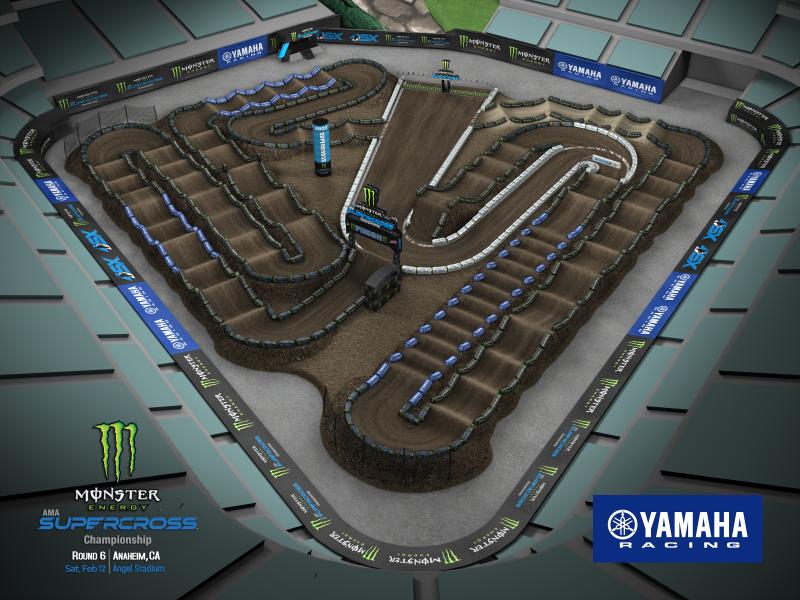 2022 Monster Energy Supercross Round 6 Track Map