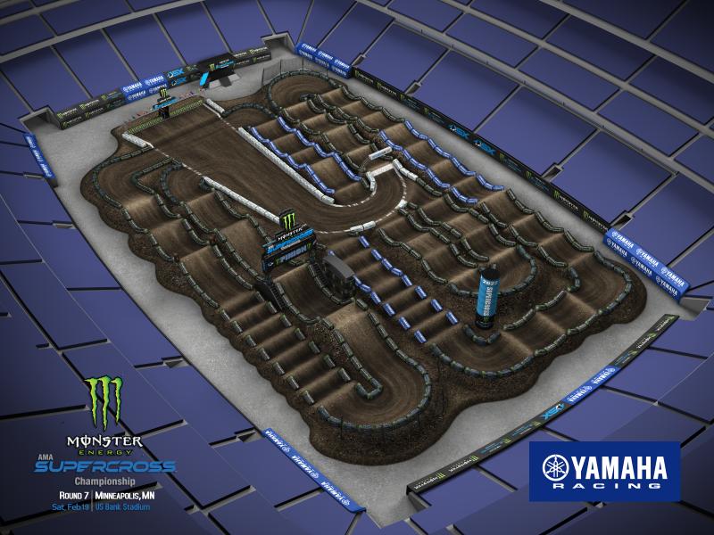 2022 Monster Energy Supercross Round 7 Track Map
