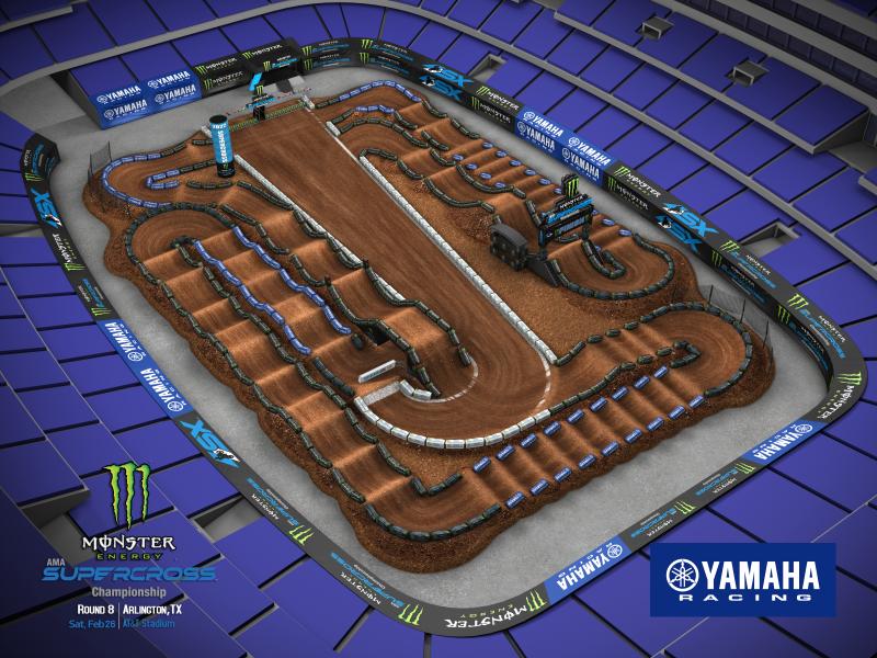 2022 Monster Energy Supercross Round 8 Track Map