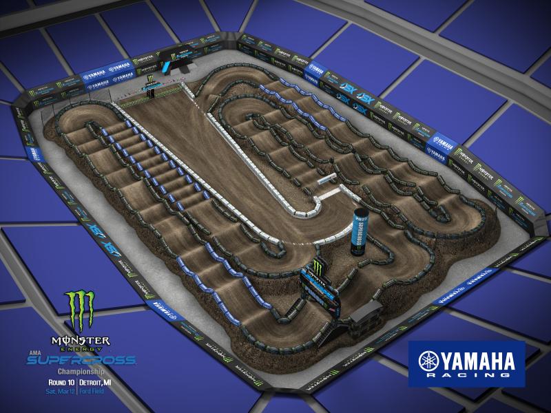 2022 Monster Energy Supercross Round 10 Track Map