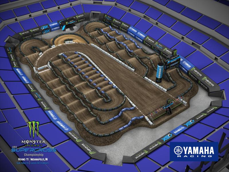 2022 Monster Energy Supercross Round 11 Track Map