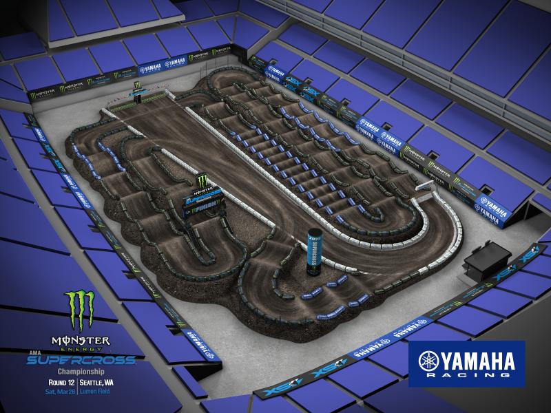 2022 Monster Energy Supercross Round 12 Track Map