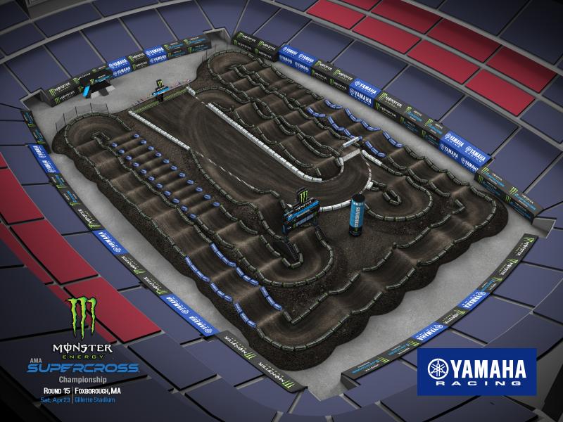 2022 Monster Energy Supercross Round 15 Track Map