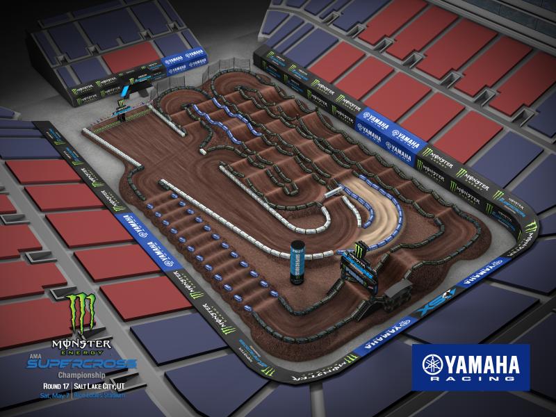 2022 Monster Energy Supercross Round 17 Track Map