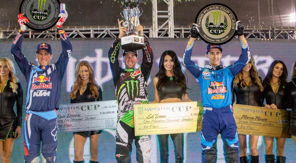 Tomac Wins 2016 Monster Energy Cup Supercross Live