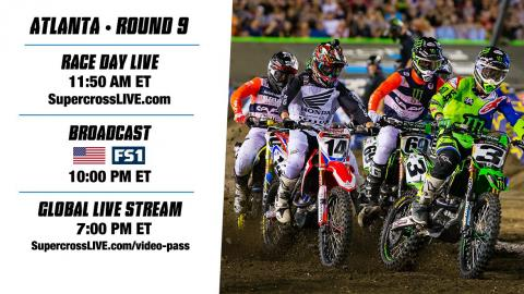 Tune in to Round 9 in ATL on FS1