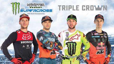 Monster Energy Supercross Detroit Triple Crown