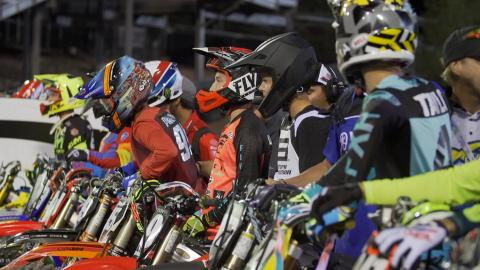 Supercross Futures riders getting ready to race