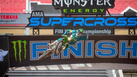 Eli Tomac Takes 450SX Win in Monster Energy Supercross' Return to Racing