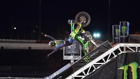Cameron McAdoo 250SX Class Main Event Crash