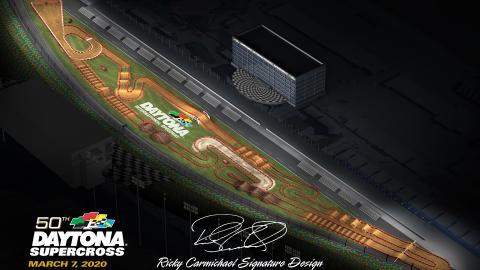 Daytona International Speedways Mar. 7 2020 Monster Energy Supercross Map Track Side 2