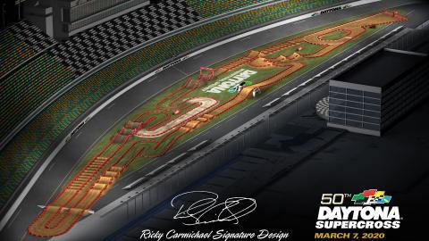 Daytona International Speedways Mar. 7 2020 Monster Energy Supercross Map Track Overview