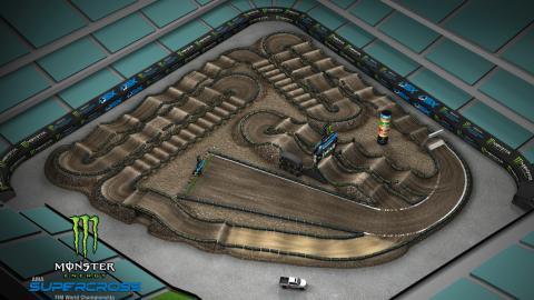 Angel Stadium of Anaheim Jan. 4, 2020 Monster Energy Supercross Track Map Side 1
