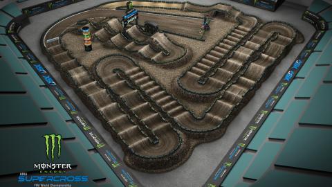 Angel Stadium of Anaheim Jan. 4, 2020 Monster Energy Supercross Track Map Side 2
