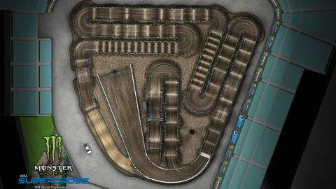 Angel Stadium of Anaheim Jan. 4, 2020 Monster Energy Supercross Track Map Overview
