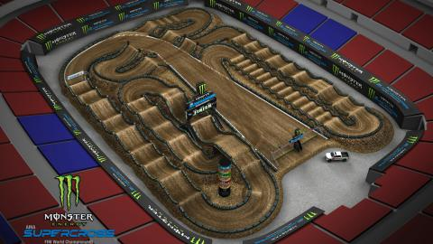 The Dome at America's Center St. Louis Jan. 11 2020 Monster Energy Supercross Track Map Side 1