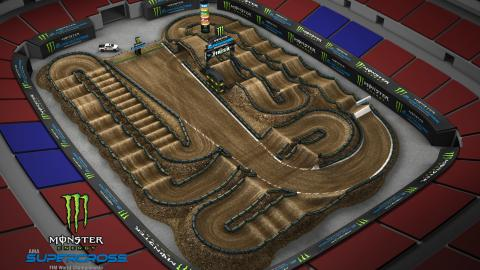 The Dome at America's Center St. Louis Jan. 11 2020 Monster Energy Supercross Track Map Side 2