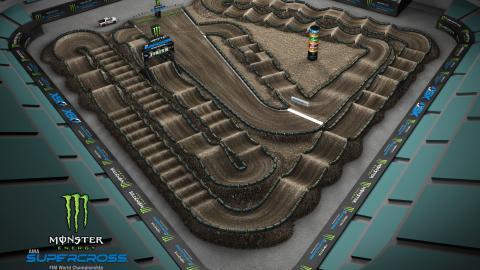 Angel Stadium of Anaheim Jan. 18, 2020 Monster Energy Supercross Track Map Side 2