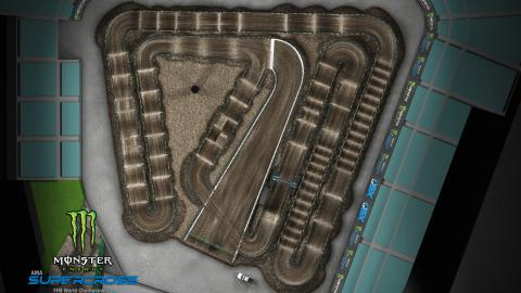 Angel Stadium of Anaheim Jan. 18, 2020 Monster Energy Supercross Track Map Overview