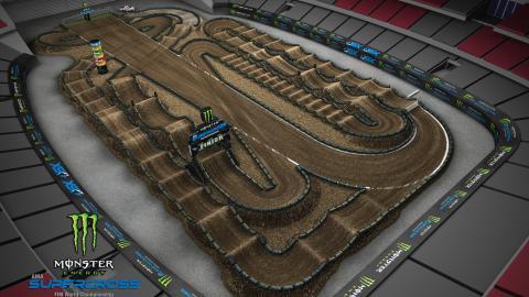 State Farm Stadium Glendale, AZ Jan. 25, 2020 Monster Energy Supercross Track Map Side 1