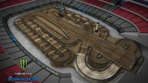 State Farm Stadium Glendale, AZ Jan. 25, 2020 Monster Energy Supercross Track Map Side 2
