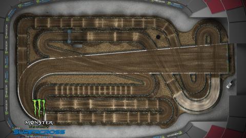 State Farm Stadium Glendale, AZ Jan. 25, 2020 Monster Energy Supercross Track Map Overview