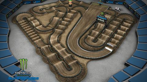 RingCentral Coliseum Oakland, CA Feb. 1 2020 Monster Energy Supercross Track Map Side 2