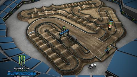 RingCentral Coliseum Oakland, CA Feb. 1 2020 Monster Energy Supercross Track Map Side 1